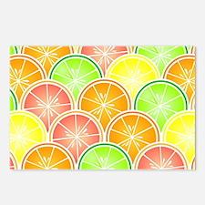 Citrus Fruit Pattern Postcards (Package of 8)