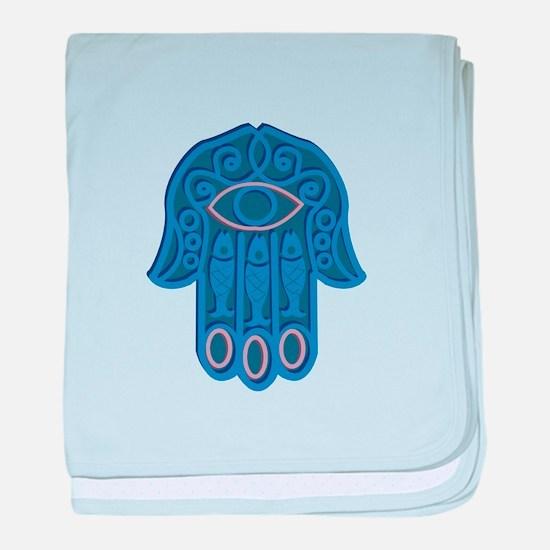 Hamsa Symbol baby blanket