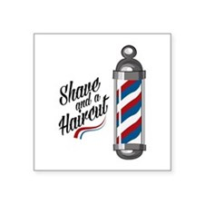 Shave & Haircut Sticker
