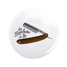 "Barber Razor 3.5"" Button (100 pack)"