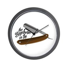 Barber Razor Wall Clock