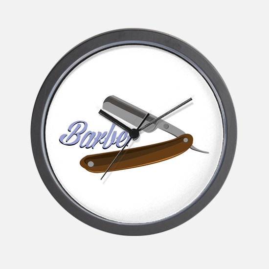 Barber Shave Wall Clock