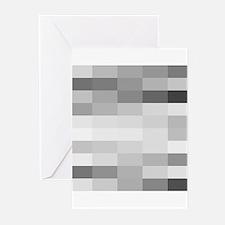 shades of gray Greeting Cards