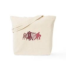 Latin Dancers Illustration Tote Bag