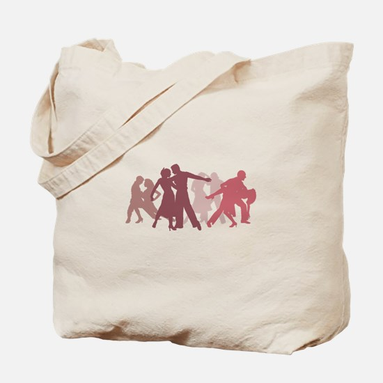Latin Dancers Illustration Tote Bag