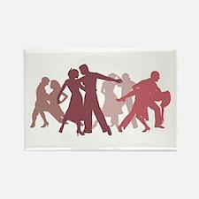 Latin Dancers Illustration Magnets