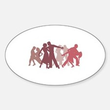 Latin Dancers Illustration Decal