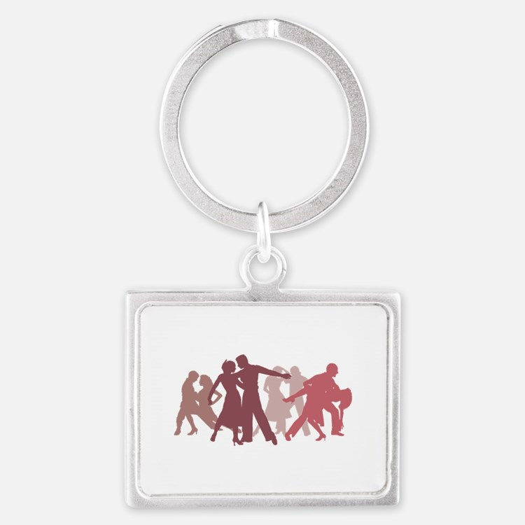 Latin Dancers Illustration Keychains