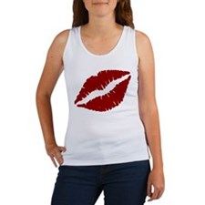 Red Lips Kiss Tank Top