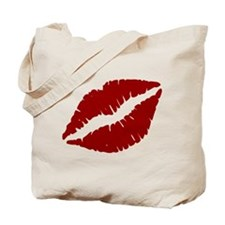 Red Lips Kiss Tote Bag
