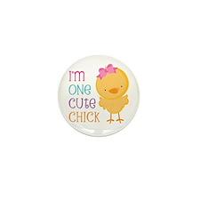 I'm One Cute Chick Mini Button (100 pack)