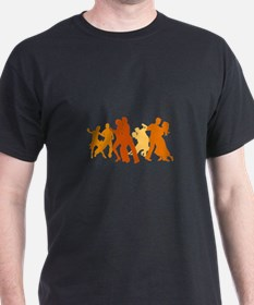 Tango Dancers Illustration T-Shirt