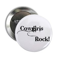 "Cowgirls Rock 2.25"" Button (100 pack)"