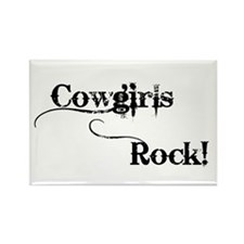 Cowgirls Rock Rectangle Magnet