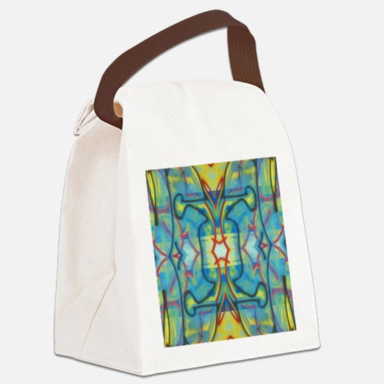Abstract Reflection Canvas Lunch Bag
