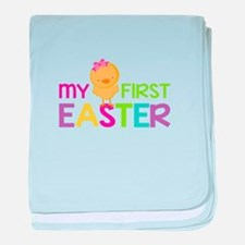 My First Easter Chick Girls baby blanket