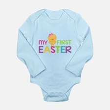 My First Easter Chick Girls Body Suit