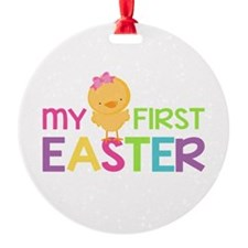 My First Easter Chick Girls Ornament
