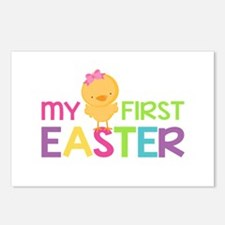 My First Easter Chick Gir Postcards (Package of 8)