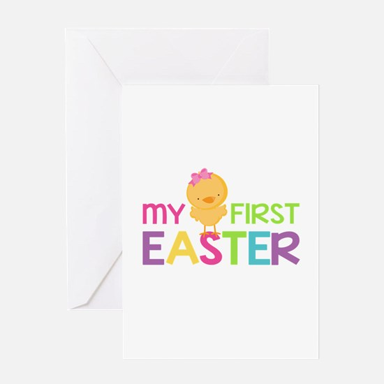 My First Easter Chick Girls Greeting Cards