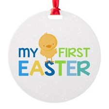 My First Easter Chick Boys Ornament