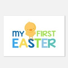 My First Easter Chick Boy Postcards (Package of 8)