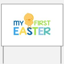 My First Easter Chick Boys Yard Sign