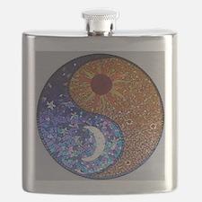 Mosaic Sun & Moon Flask