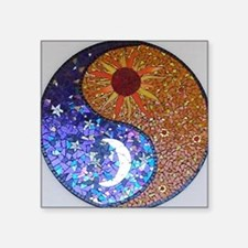 "Mosaic Sun & Moon Square Sticker 3"" x 3"""