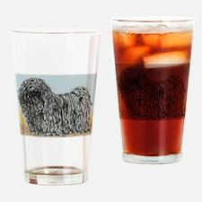 Black Puli (summer) Drinking Glass