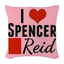I Heart Spencer Woven Throw Pillow