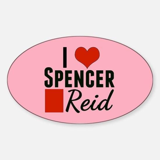 I Heart Spencer Sticker (Oval)