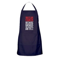Wrestling Coach Badass Job Apron (dark)