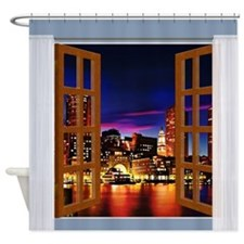 Funny Boston view Shower Curtain