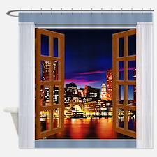 Cute Boston view Shower Curtain
