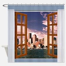Unique Boston view Shower Curtain