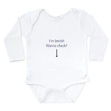 Cute Jew humor Long Sleeve Infant Bodysuit