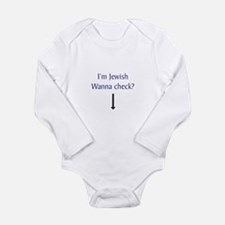 Cute Kosher baby Long Sleeve Infant Bodysuit