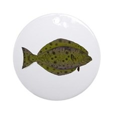Pacific Halibut Ornament (Round)