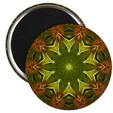 Yellow Wildflower Kaleidoscope Magnet