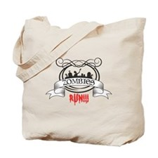 zombies run Tote Bag