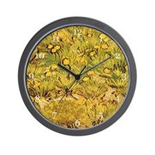 A field of Yellow Flowers, Vincent van  Wall Clock