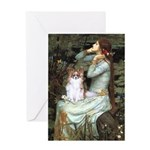 Ophelia & Papillon Greeting Card