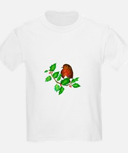 Robin Bird, Robin Redbreast, Watercolour P T-Shirt