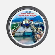 Island Princess- Canal Cruise Amigos- Wall Clock