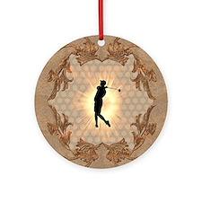 Sport, golfer Ornament (Round)