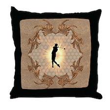 Sport, golfer Throw Pillow