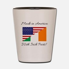 Made in America with Irish Parts Shot Glass