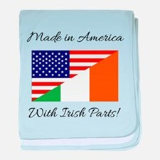 Made in America with Irish Parts baby blanket