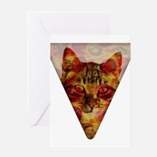 PizzaCat Slice Greeting Cards